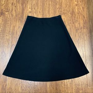 Ann Taylor black a line midi skirt size 6